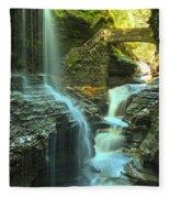 Rainbow Falls Watkins Glen Fleece Blanket