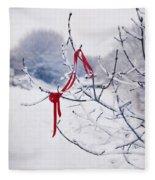 Ribbon In Tree Fleece Blanket