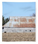 Ribbon Roof Barn Fleece Blanket