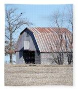 Ribbon Roof Crib Fleece Blanket