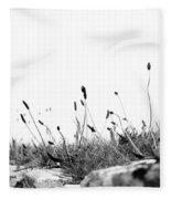 Ribwort Plantain Fleece Blanket
