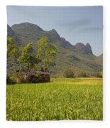 Rice Farm Fleece Blanket