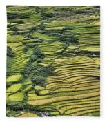Rice Fields Sapa II Fleece Blanket