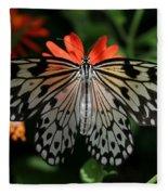 Rice Paper Butterfly Elegance Fleece Blanket