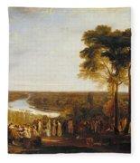 Richmond Hill On The Prince Regent's Birthday Fleece Blanket