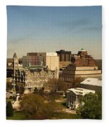 Richmond Virginia - Old And New Capitol Buildings Fleece Blanket