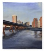 Richmond Virginia Skyline Fleece Blanket