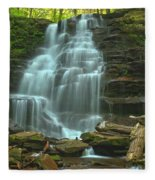 Ricketts Glen Cascading Falls Fleece Blanket