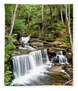 Ricketts Glen Delaware Falls Fleece Blanket