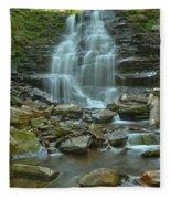 Ricketts Glen Waterfall Canyon Fleece Blanket