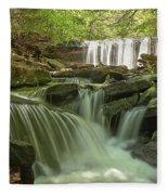 Ricketts Glen Waterfall Cascades Fleece Blanket