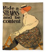 Ride A Stearns And Be Content Fleece Blanket