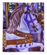 Ride The White Horse Fleece Blanket