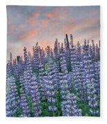 Ridge Of Lupine At Dawn Fleece Blanket