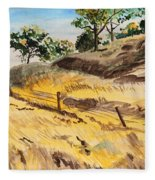 Riding By Back Road  Fleece Blanket