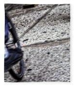 Riding On The Sidewalk Fleece Blanket