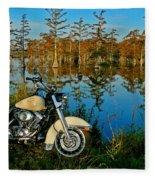 Riding The Mississippi Delta Fleece Blanket