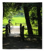 Riding The Trails Fleece Blanket