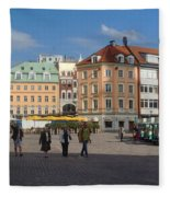 Riga Old Town 3 Fleece Blanket