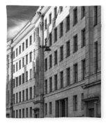 Riga Soviet Architecture 01 Fleece Blanket