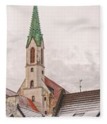 Riga St Johns Church Fleece Blanket