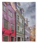 Riga Street Fleece Blanket