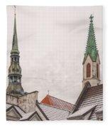 Rigan Steeples Fleece Blanket