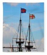 Rigging And Flags Fleece Blanket