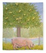 Right Hand Orchard Pig Fleece Blanket