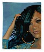Rihanna Painting Fleece Blanket
