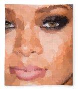 Rihanna Portrait Fleece Blanket