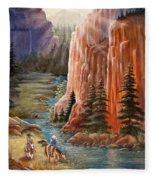 Rim Canyon Ride Fleece Blanket