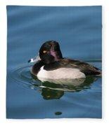 Ring Neck Duck  Fleece Blanket