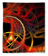 Ring Of Fire Fleece Blanket