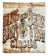 Ringling Brothers And Barnum And Bailey Circus Fleece Blanket