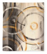 Rings Of Gold Abstract Painting Fleece Blanket