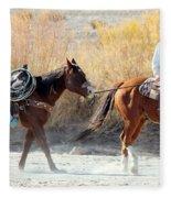 Rio Grande Cowboy Fleece Blanket
