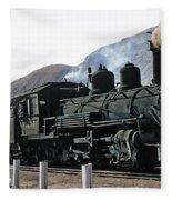 Rio Grande Railway Baldwin Built In 1903 No. 464 Circa 1955 Fleece Blanket