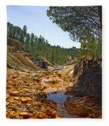 Rio Tinto Mines, Huelva Province Fleece Blanket