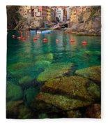 Riomaggiore Bay Fleece Blanket