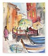 Riomaggiore In Italy 01 Fleece Blanket