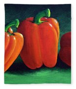 Ripe Red Peppers Fleece Blanket