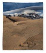 Ripples Dunes And Clouds Fleece Blanket