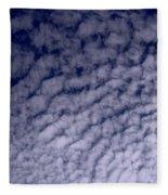 Ripples In The Dark Blue Sky Fleece Blanket