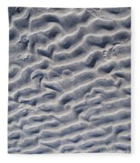 Ripples In The Sand And Surf Fleece Blanket