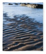 Ripples In The Sand Fleece Blanket