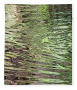 Ripples On Florida River Fleece Blanket