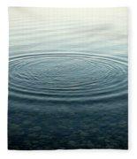 Ripples On Lake Surface, Maine Fleece Blanket