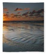 Ripples On The Beach Fleece Blanket