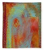 Rippling Colors No 3 Fleece Blanket